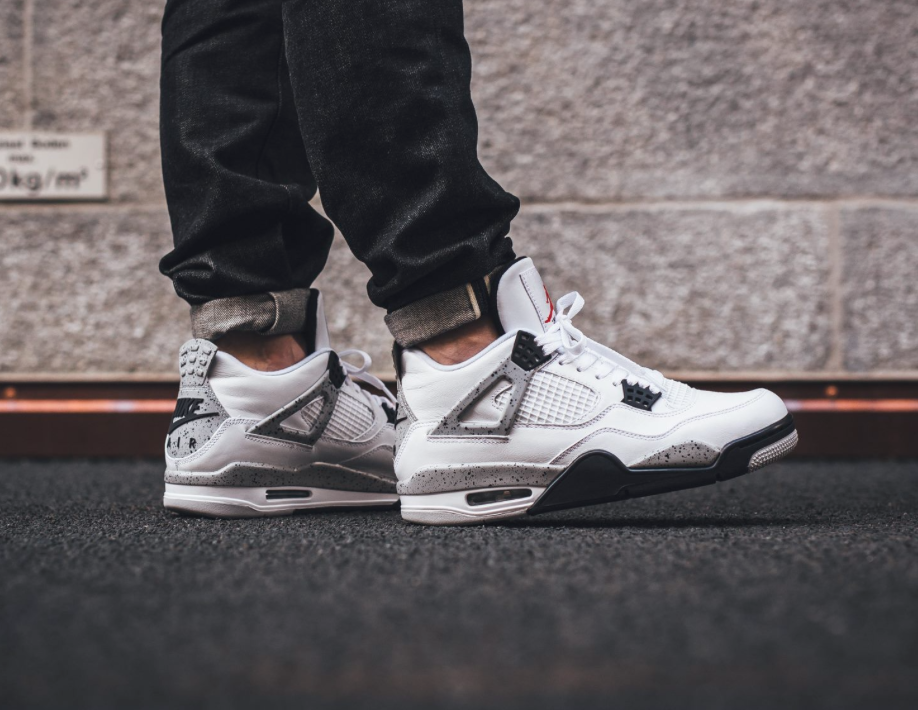 nike air jordan 4 og 89 white cement 2016 super