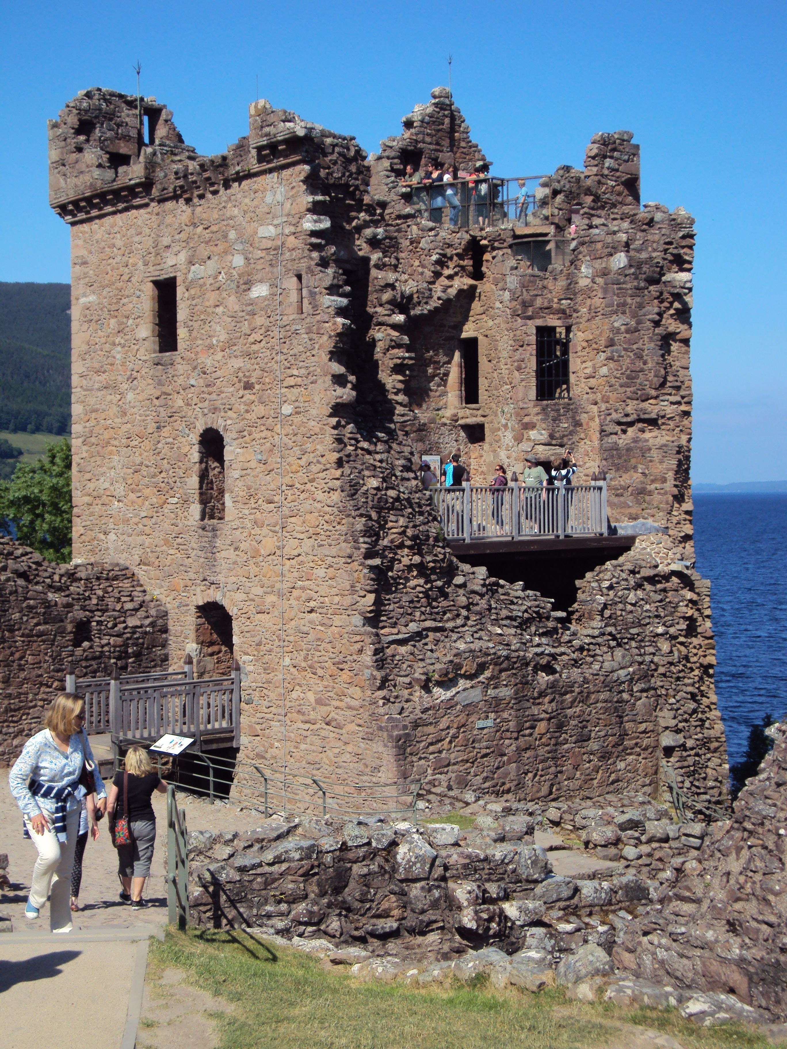 the ruins of Urquhart Castle north Scotland