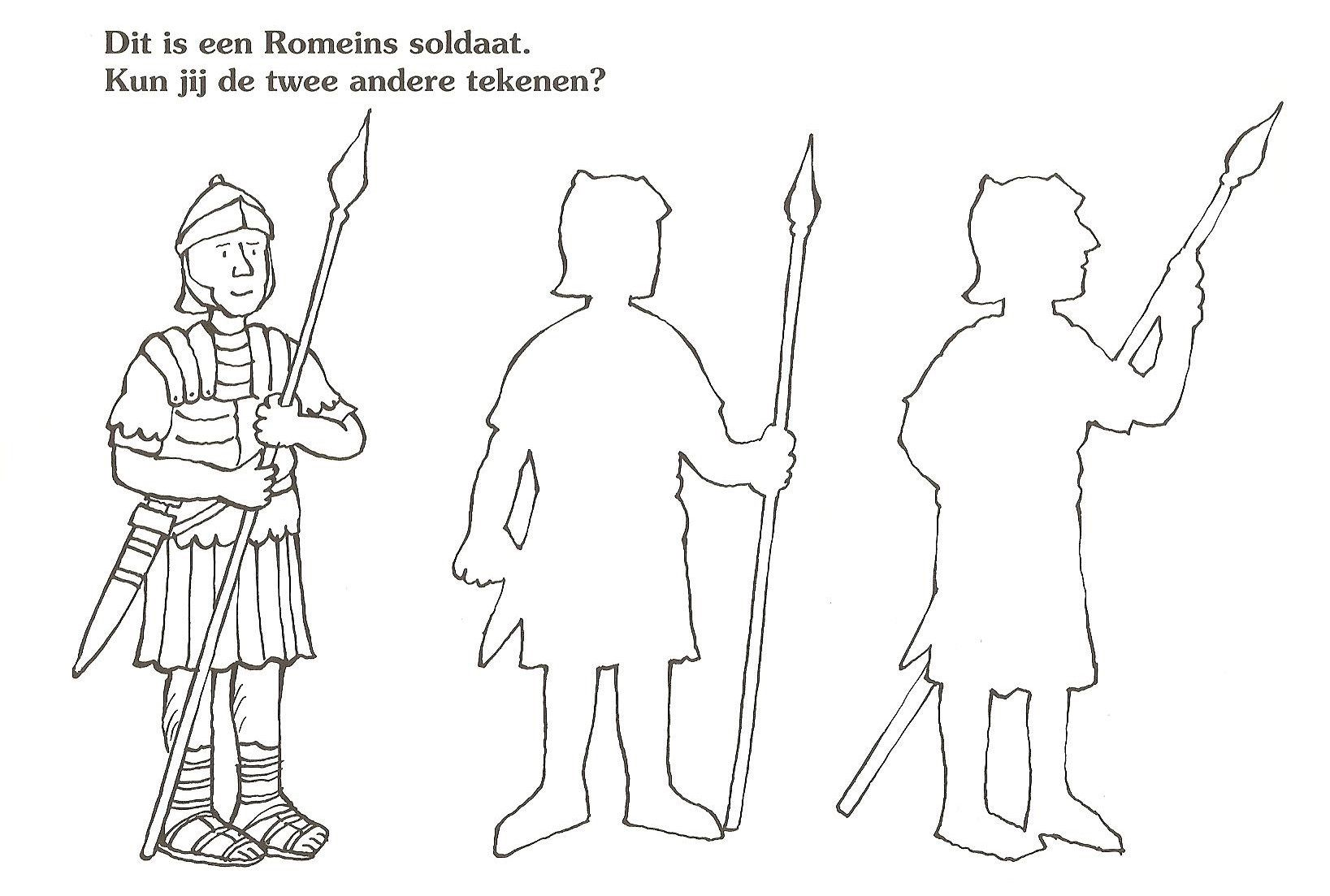 Dit Is Een Romeinse Soldaat Kun Jij De Andere Twee Tekenen Romeinse Soldaten Romeinse Kunst Romeinen