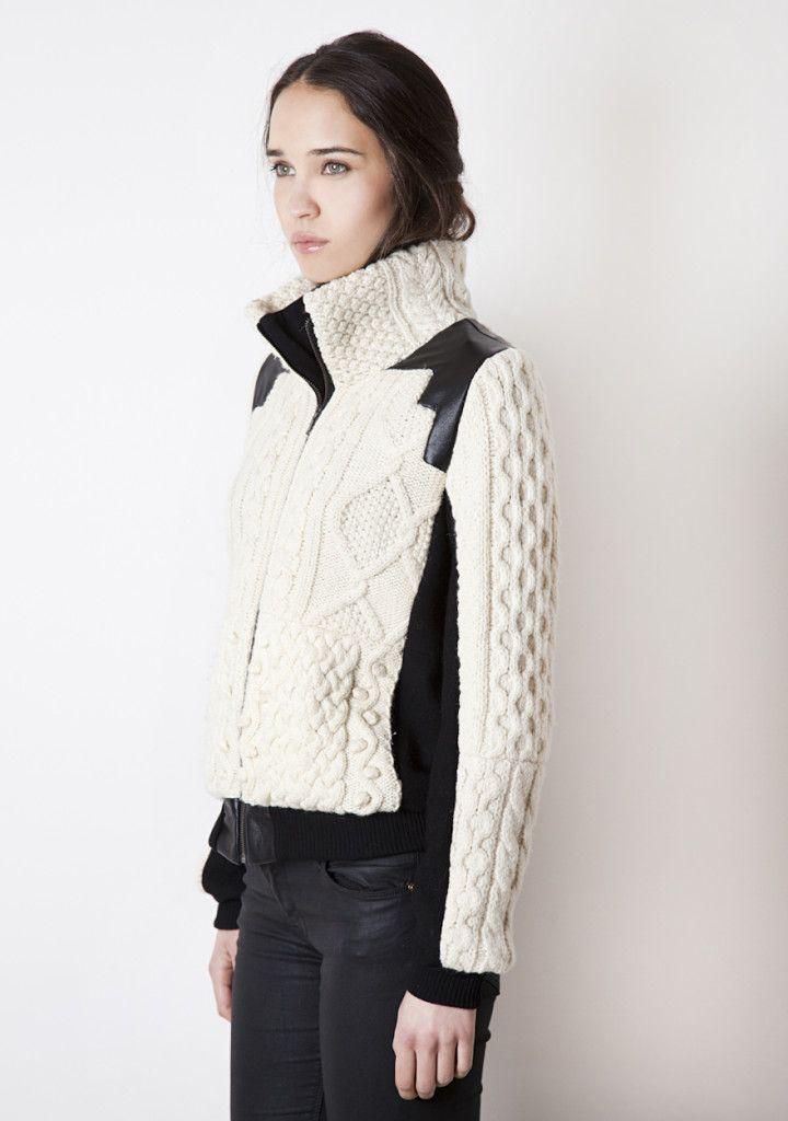 Aran Bomber Jacket · Jackets, Knitwear, Sweaters by Good One · UP & RISING