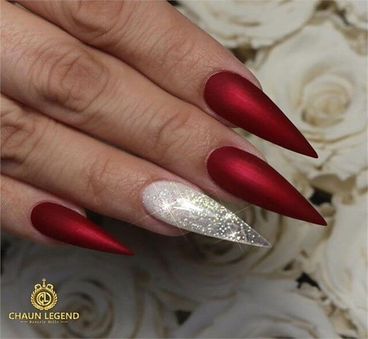 30 Pretty Red Acrylic Nail Art Design Ideas Red Acrylic Nails Acrylic Nail Designs Trendy Nails