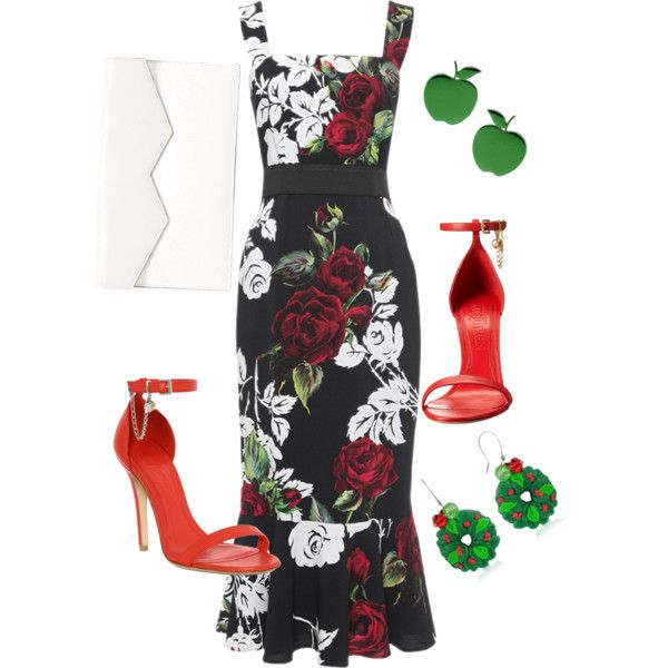 Summer evening event by valeria-verde on Polyvore featuring polyvore, fashion, style, Dolce&Gabbana, Alexander McQueen, Fabiola Pedrazzini, Loroetu and Dolci Gioie