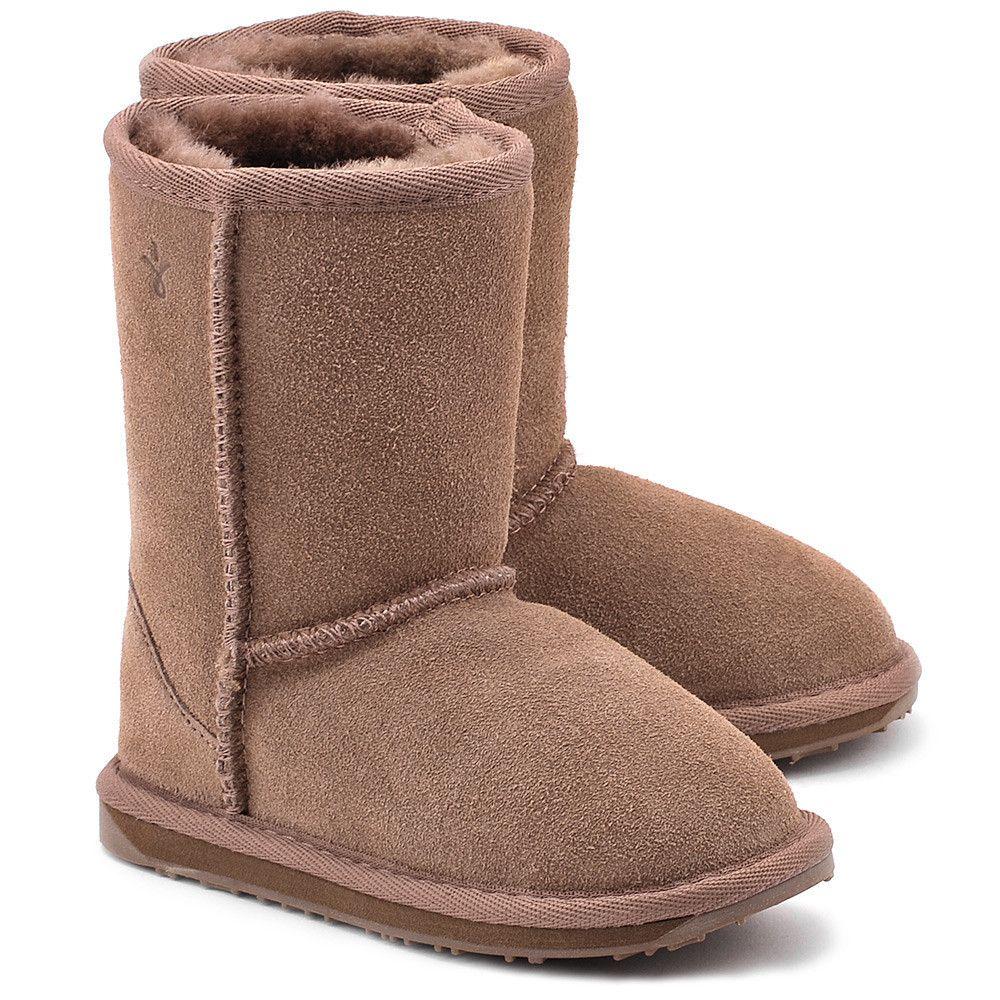 Emu Wallaby Lo Mushroom Bezowe Zamszowe Kozaki Dzieciece Buty Dzieci Kozaki Mivo Boots Bearpaw Boots Ugg Boots