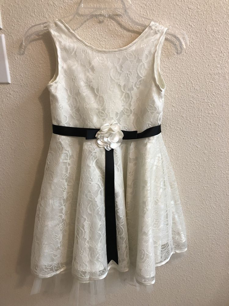 White Holiday Dress Bow