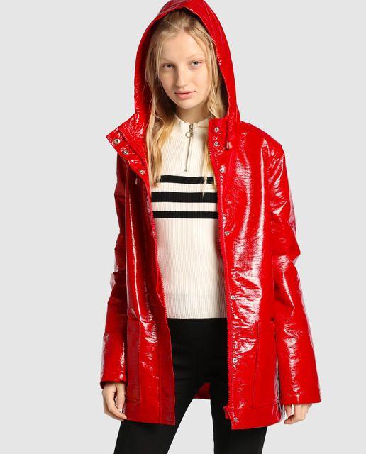 38b0e0dc1f2 Chubasquero básico de mujer Easy Wear con capucha