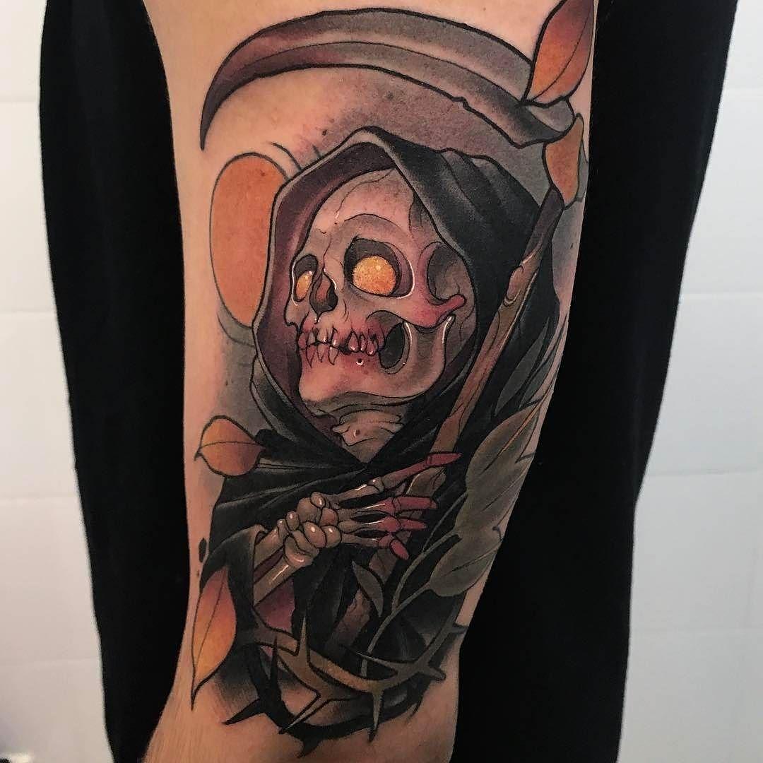 Traditional Flash Skull Tattoos: Pin On Tattoo