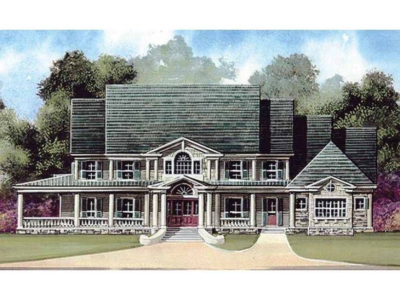 Farmhouse House Plan with 5083 Square Feet and 5 Bedrooms from ...