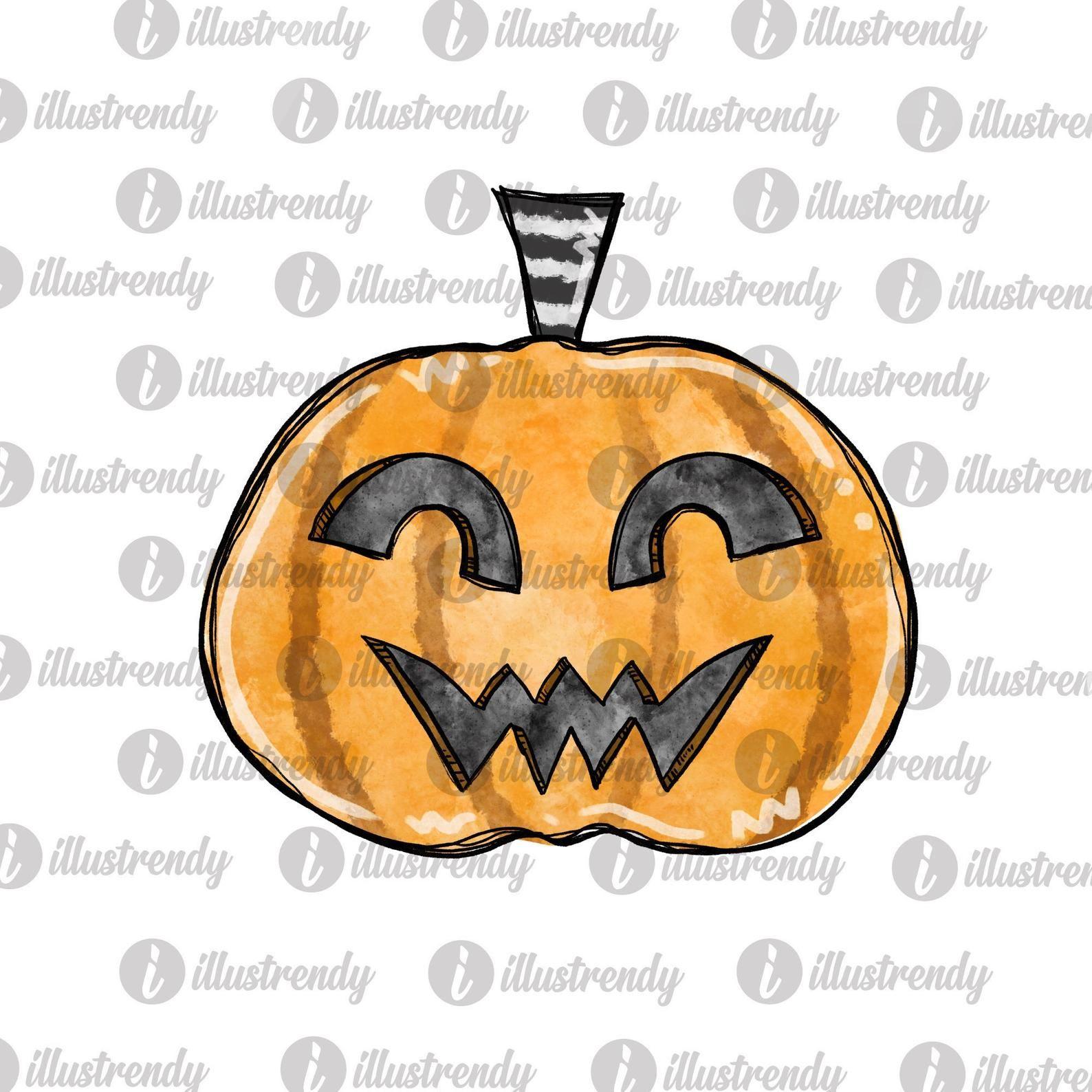 Halloween Pumpkin Face Png File Candy Sublimation Design Etsy