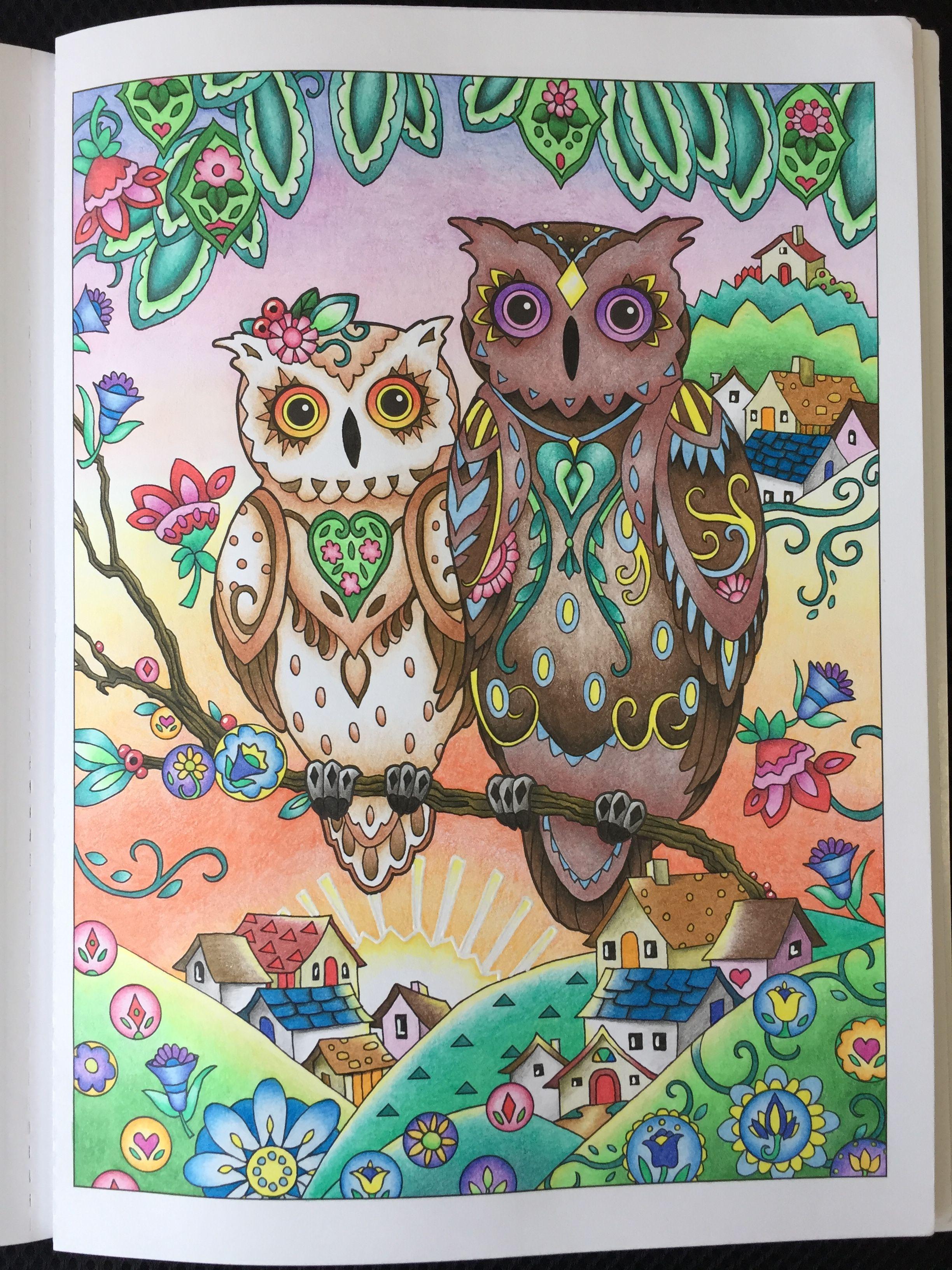 Owls Marjorie Sarnat 幸せを呼ぶフクロウ塗り絵 マージョリー