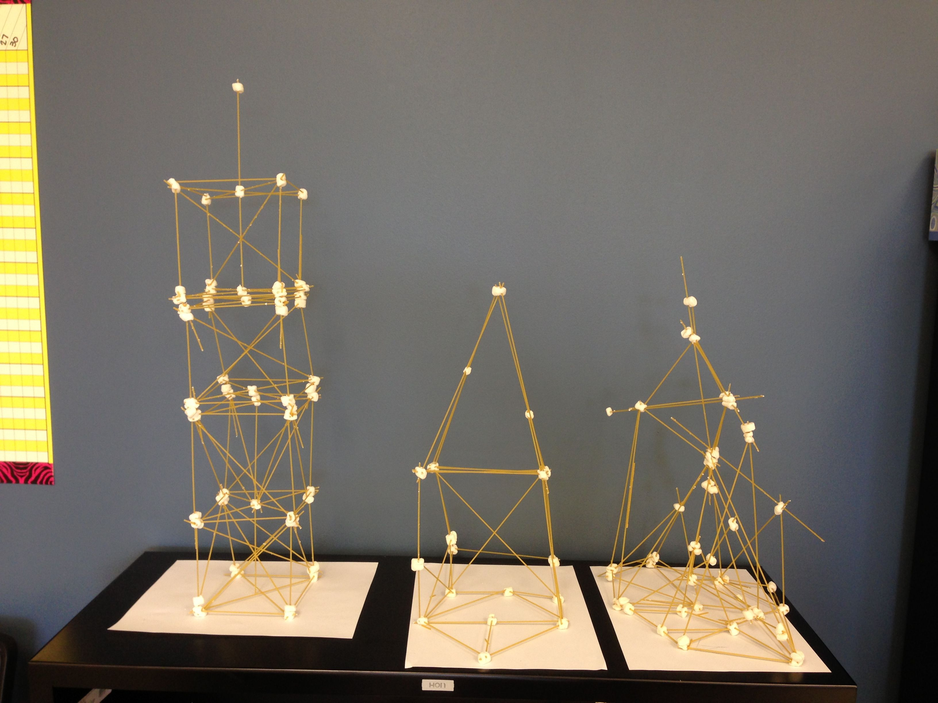 Image result for spaghetti marshmallow towers