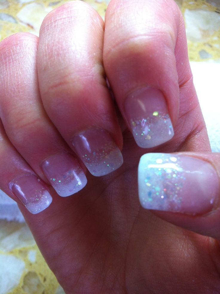 powdered gel nails design