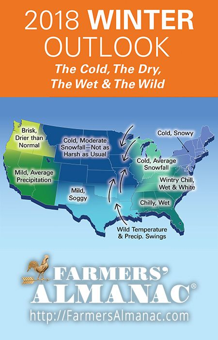 2019 Winter Forecast | Weather | Farmers almanac, Winter forecast