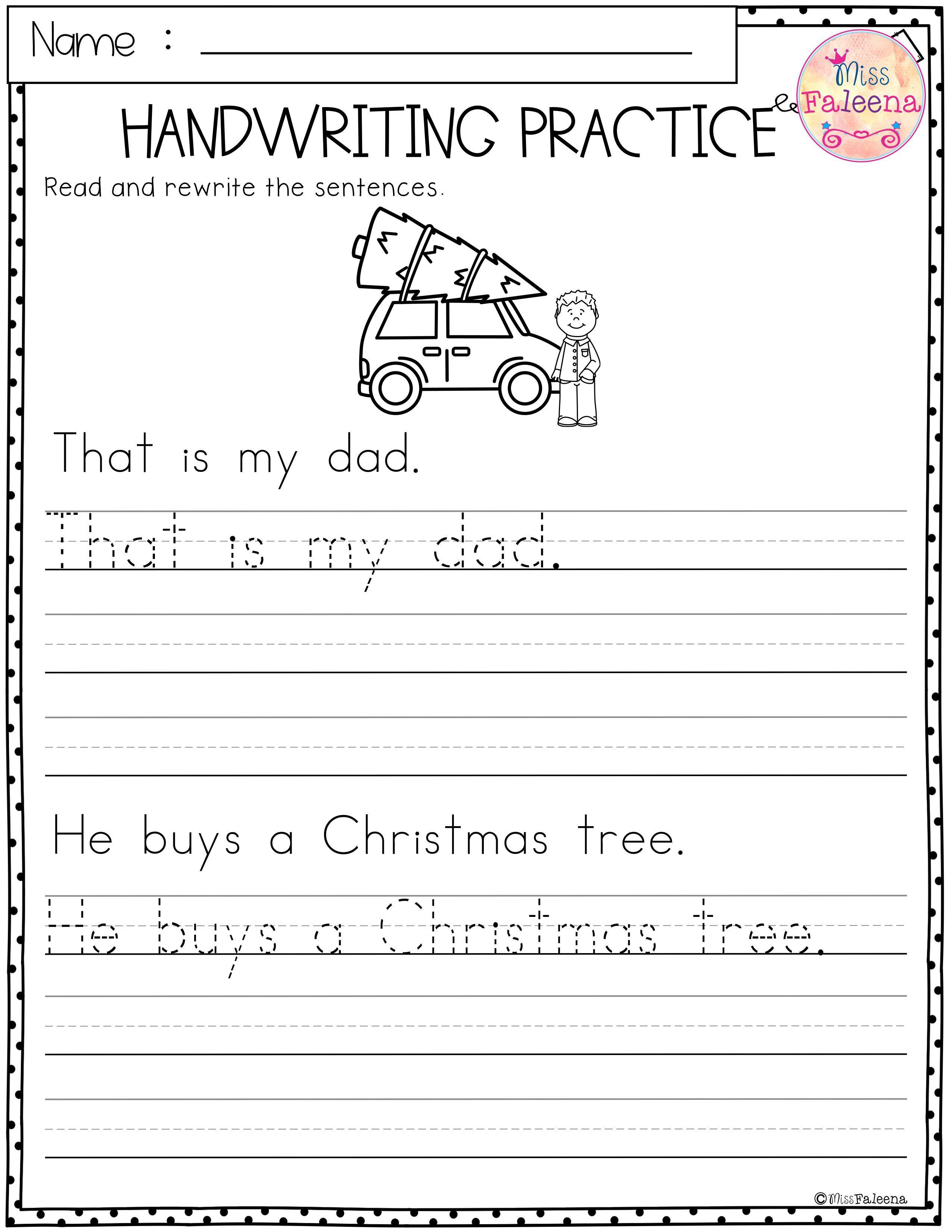 Christmas Handwriting Practice