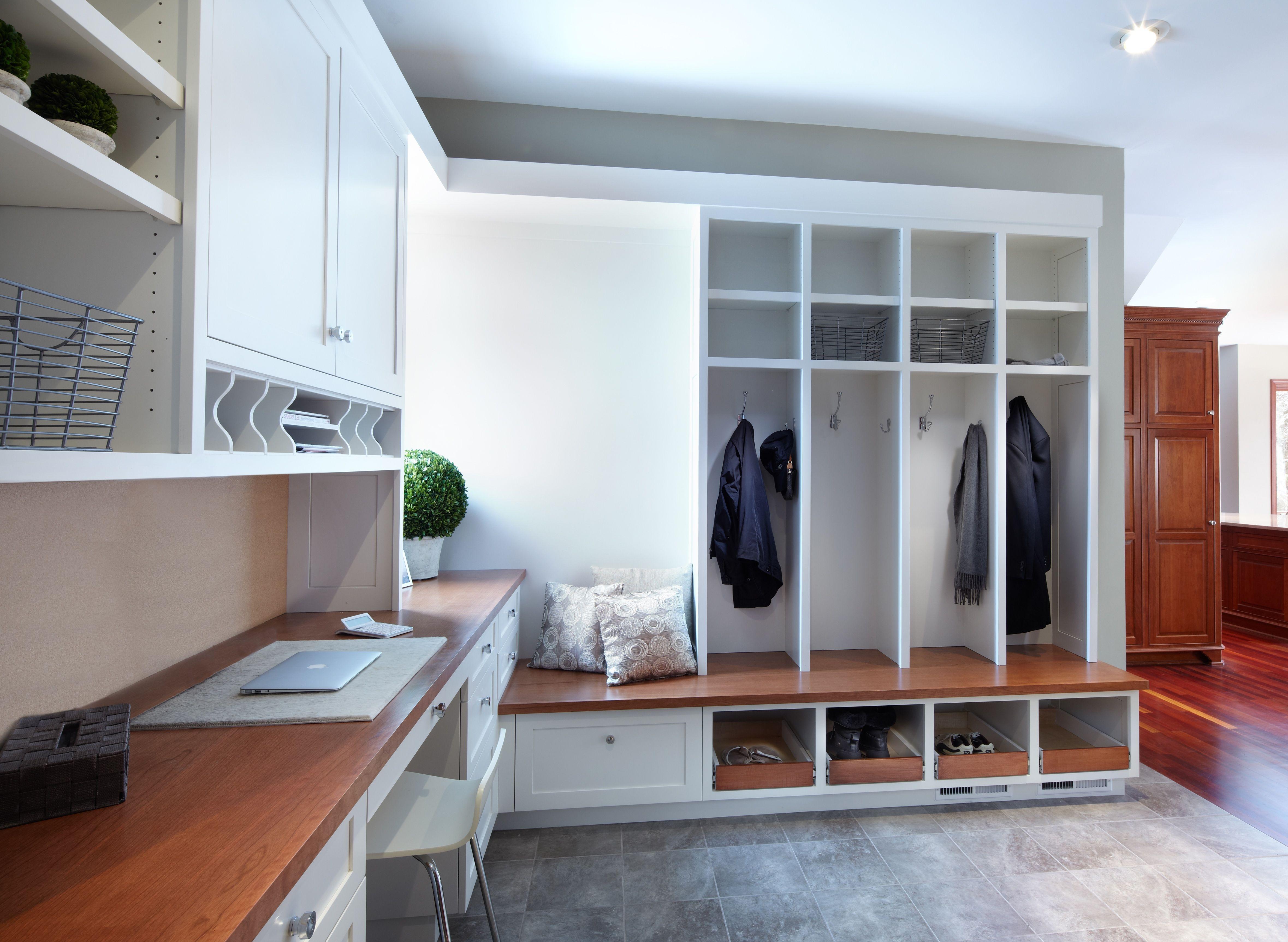 White Cabinets Coat Lockers Coat Storage Coat Closet