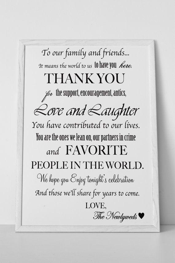 Wedding Gift Thank You Card Ideas : ... wedding decor wedding stuff dream wedding wedding ideas thank you sign