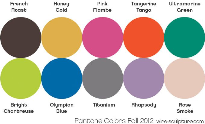 Fall  Pantone ColorsLooking Forward To Incorporating These