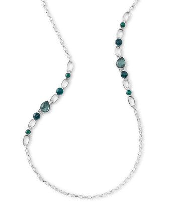 """Rock+Candy+Multi-Stone+Long+Necklace+in+Neptune,+38""""+by+Ippolita+at+Bergdorf+Goodman."""