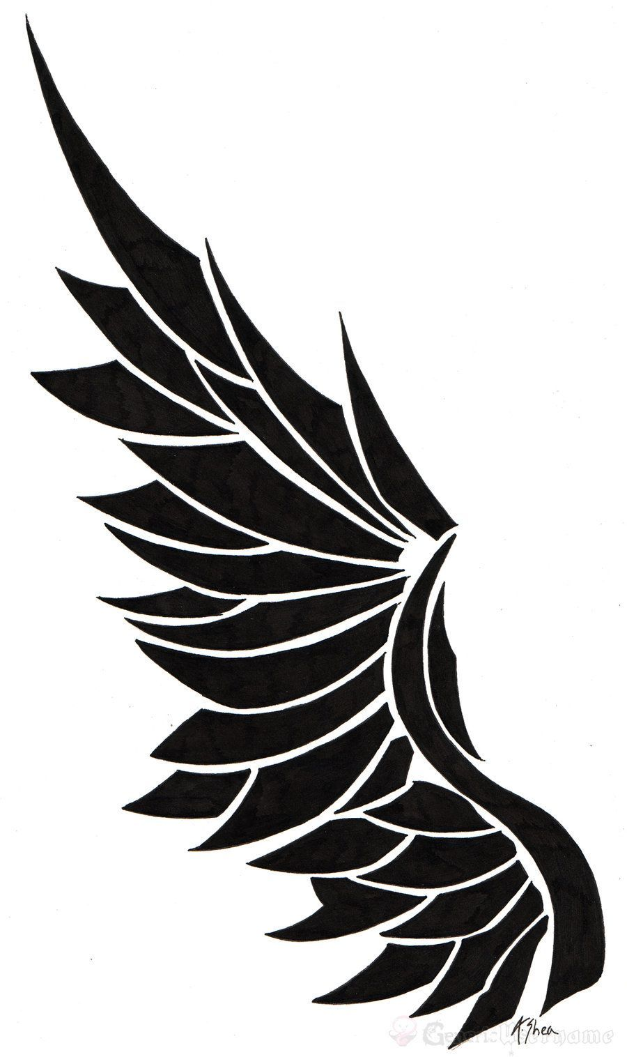 Tatoo Angel Wing By Generic On Deviantart Wing Tattoo Designs
