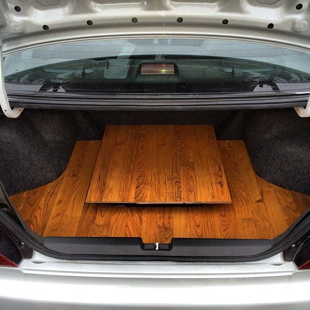 Evo custom hardwood floor trunk   Car Audio Custom ...