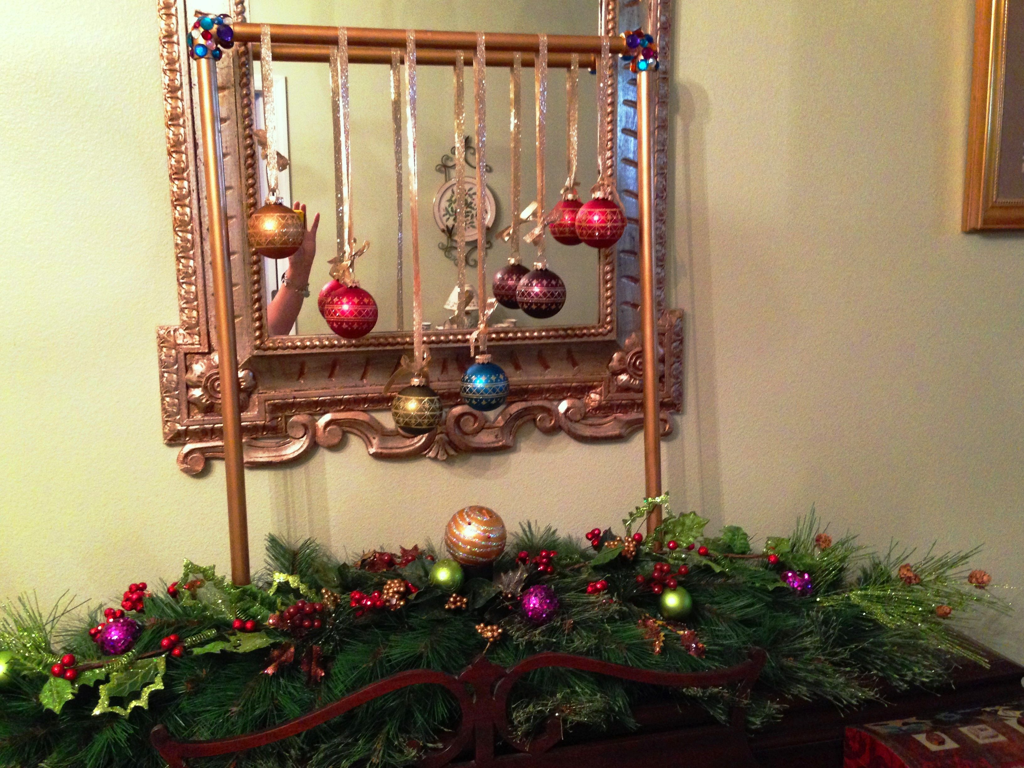 Christmas ball holder made from PVC. Painted and stuck ...