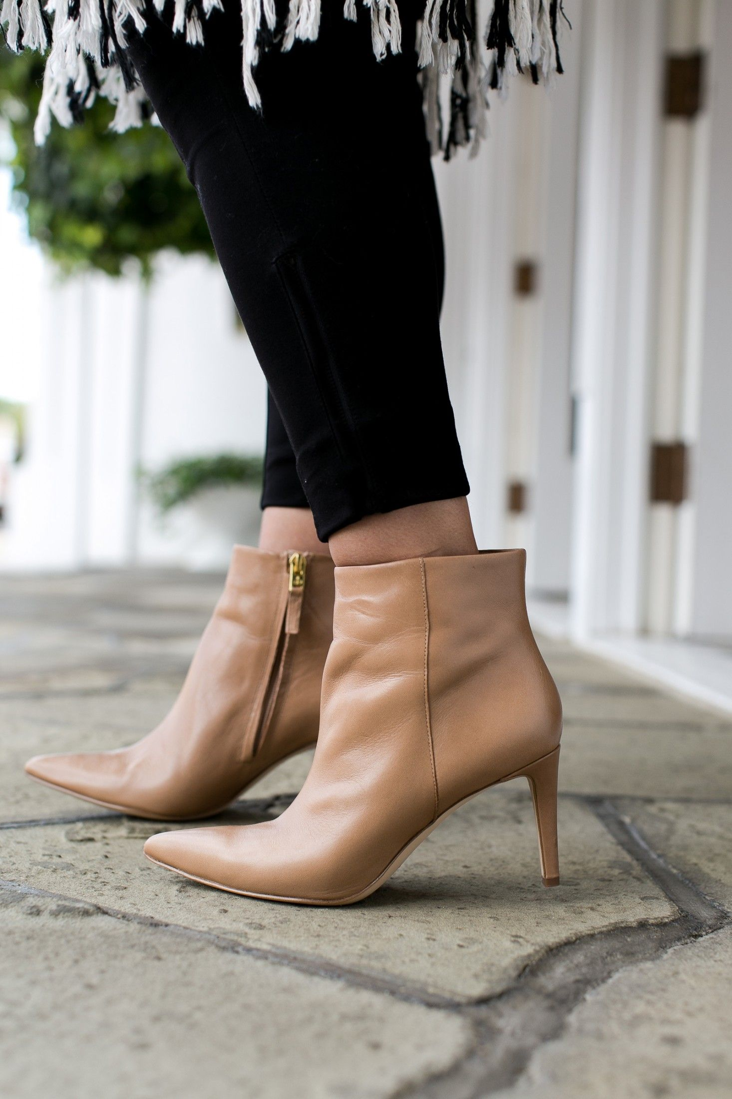 f29e742b1575e ... Sam Edelman booties for fall. This silhouette is such a sleek update to  the classic stacked heel bootie—and it