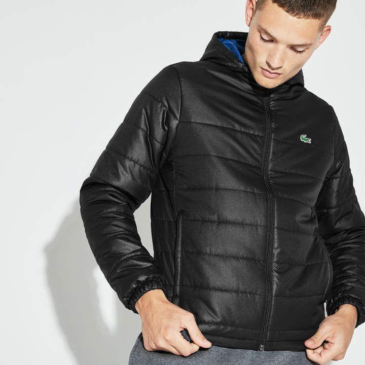 f91a2d29d3 Lacoste Men's SPORT Hooded Water-Resistant Taffeta Tennis Jacket ...