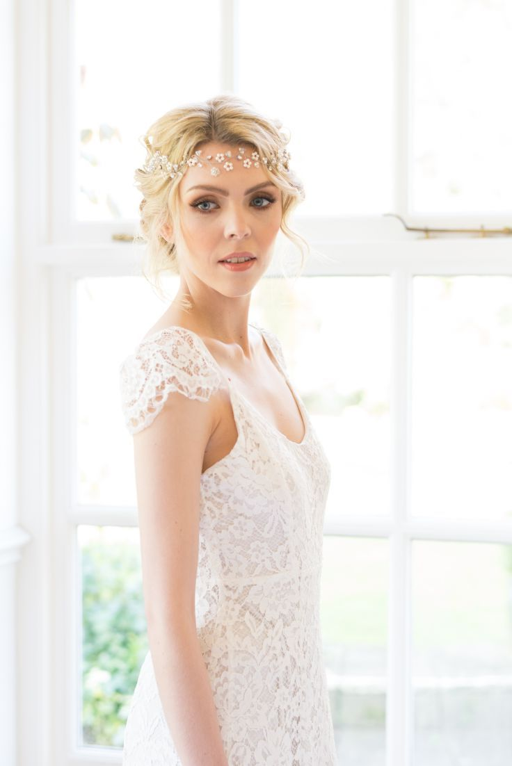 Boho bridal headpiece bridal hair vine boho wedding back of hair
