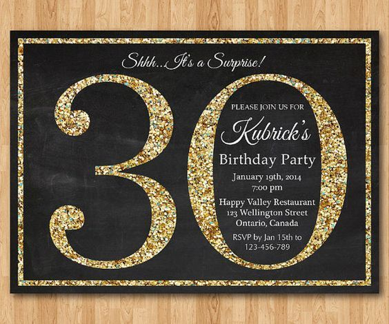 Download FREE Template 30th Birthday Party Invitation Wording