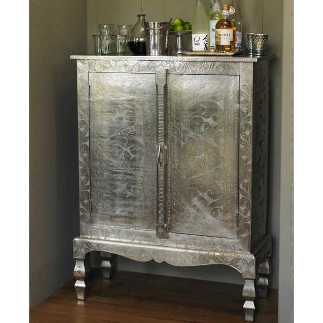 Silver Etched Cabinet At Viva Terra