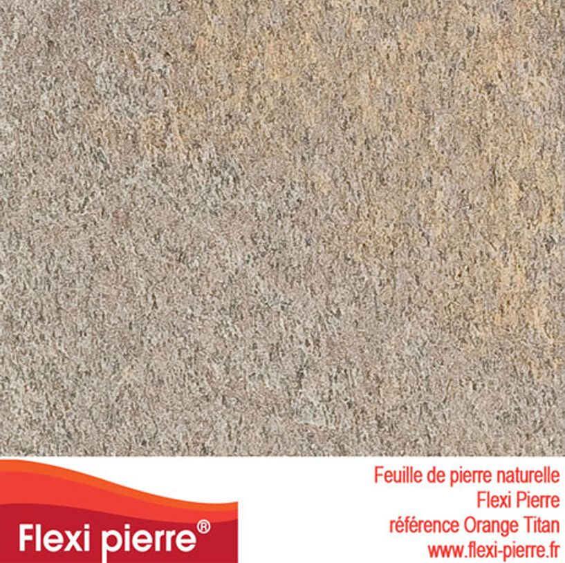 Feuille De Pierre Ref Orange Titan Feuille De Pierre Pierre Colle Epoxy