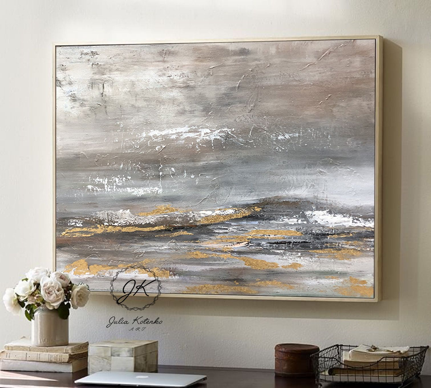 Original Floral Land Oil Painting,Decor Landscape,Acrylic Painting Large,Large Wall Art Abstract Painting,Extra Large Wall Art,Textured Art