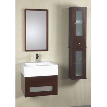 Ronbow Modular Rebecca 23 Wall Mount Bathroom Drawer Vanity Set