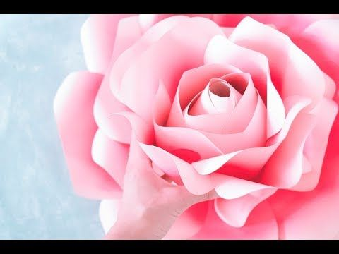 Free template and tutorial backdrop rose from printer paper free template and tutorial backdrop rose from printer paper youtube mightylinksfo