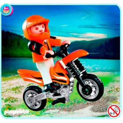 Amazon.com: Playmobil 4698 Special: Child with Dirt Bike: Toys ...