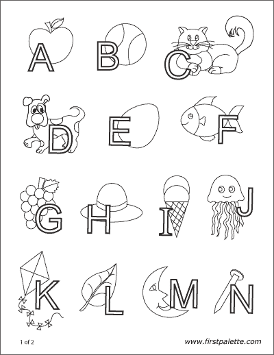 Printable Alphabet Letters Interlaced With Objects Abc Coloring Pages Alphabet Coloring Pages Abc Coloring