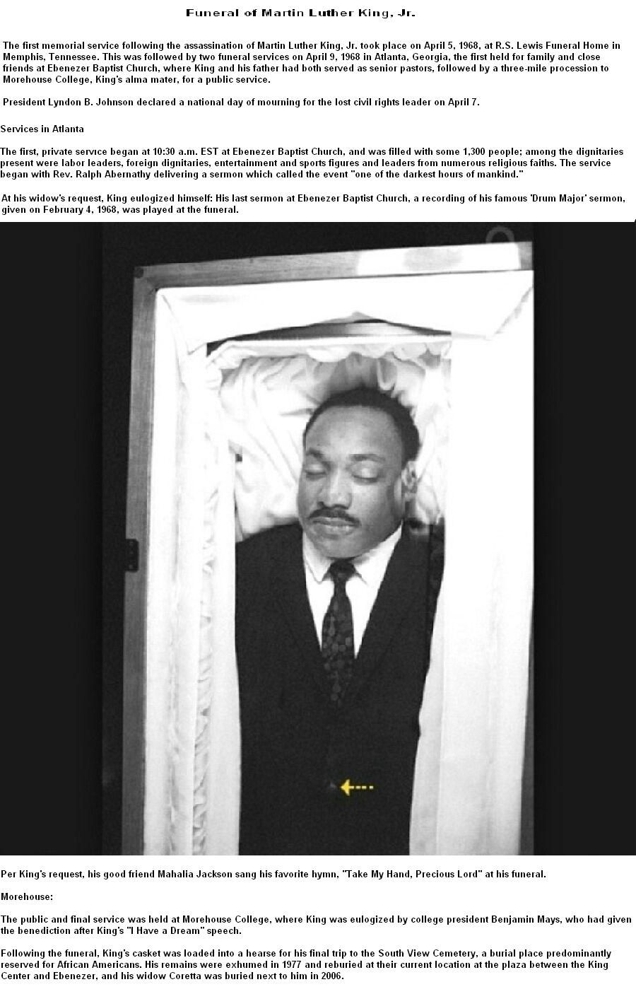 Funeral Of Martin Luther King Jr From Wikipedia The Free Encyclope Dr Martin Luther King Jr Martin Luther King Assassination Martin Luther King Jr Quotes