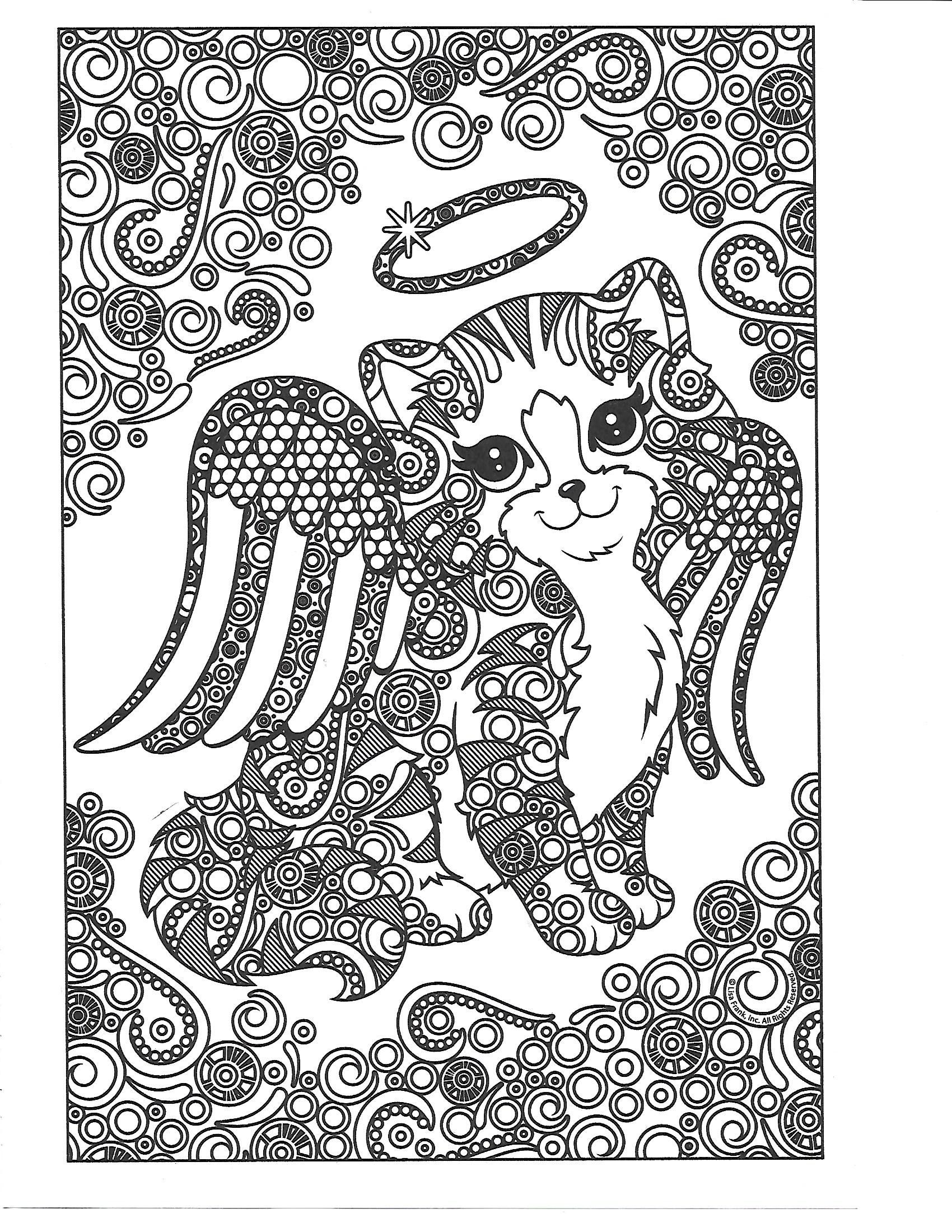 Pin By Beth Conroy On Color Cats Cat Coloring Page Lisa Frank Coloring Books Coloring Pages [ 2200 x 1700 Pixel ]