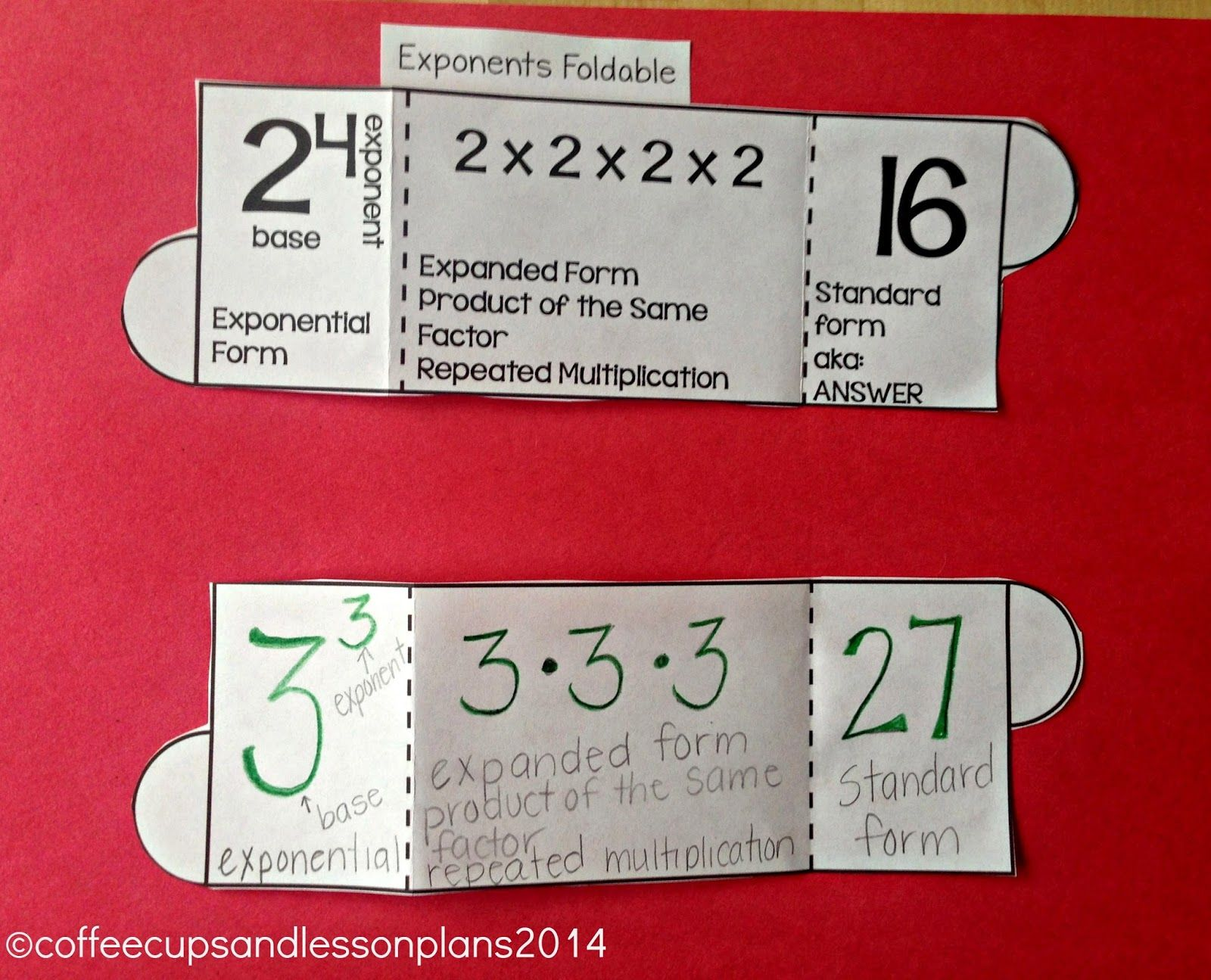 Using Foldables And Games To Review Numeric Expressions