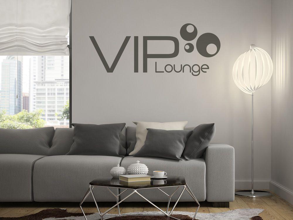 Wandtattoo VIP Lounge für die Wand im VIP Bereich Wandtattoos - wandtattoos für wohnzimmer