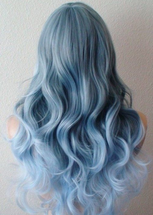 Coiffures Highlight Blue Pastel