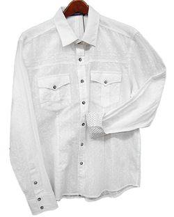 Toku Clothing White Tonal Top-Stitch Shirt