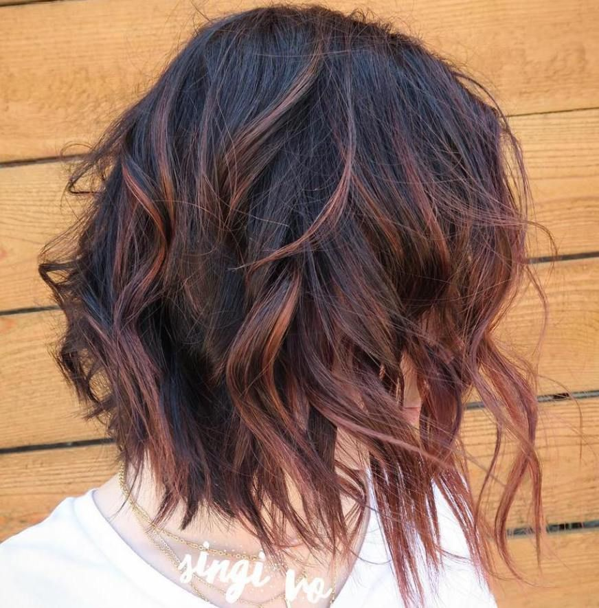 Reddish Brown Highlights For Black Hair