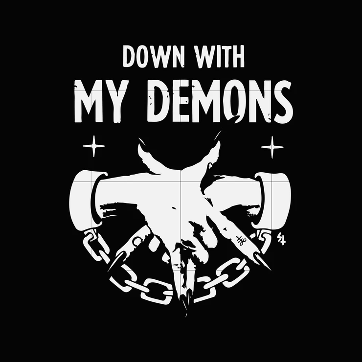 Down With My Demons Tattoo: Down With My Demons Svg ,dxf,eps,png Digital File In 2020