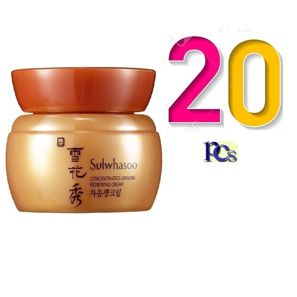 Sulwhasoo Concentrated Ginseng Renewing Cream Ex 5ml X 20pcs 100ml Time Treasure Renovating 8ml Anti Aging
