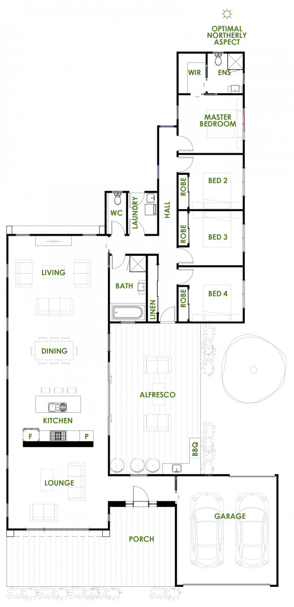 Floor Plan Friday Architectural Home With Exceptional Efficiency Katrina Chambers Energy Efficient House Plans Open House Plans Family House Plans