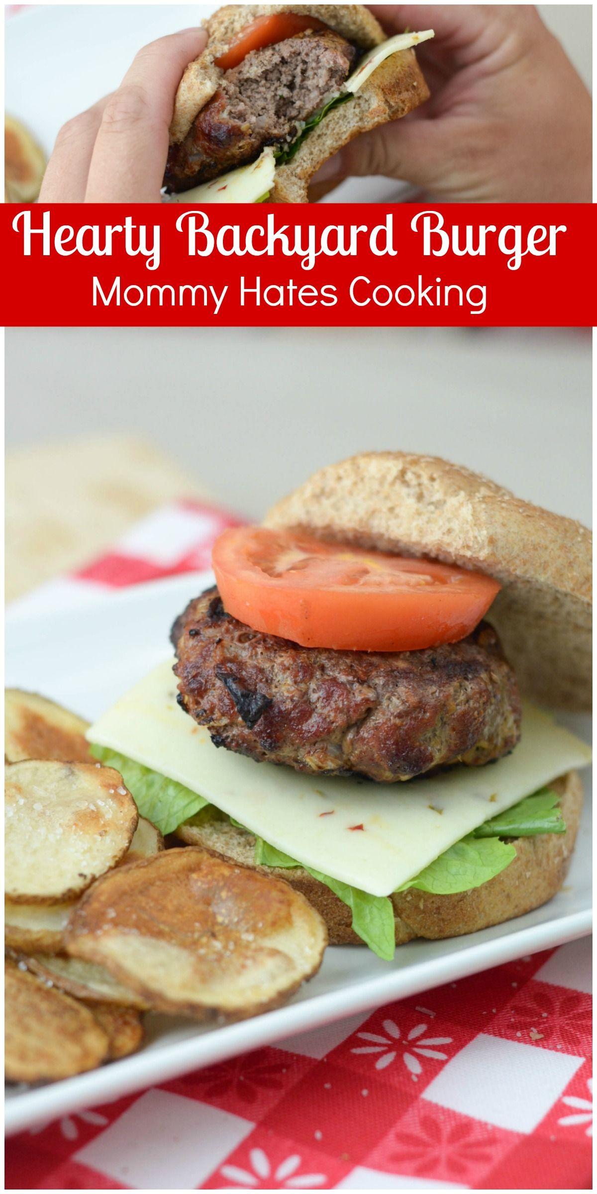 Hearty Backyard Burgers #BurgerTour @GiantFoodStore #ad