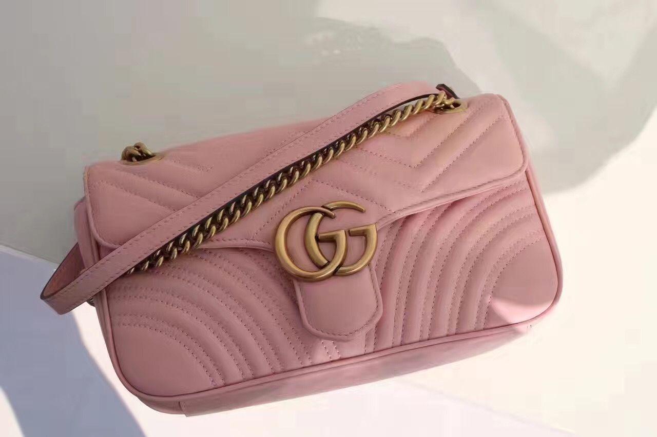 a40399dd32 Authentic Quality 1 1 Mirror Replica Gucci GG Marmont Matelassé ...