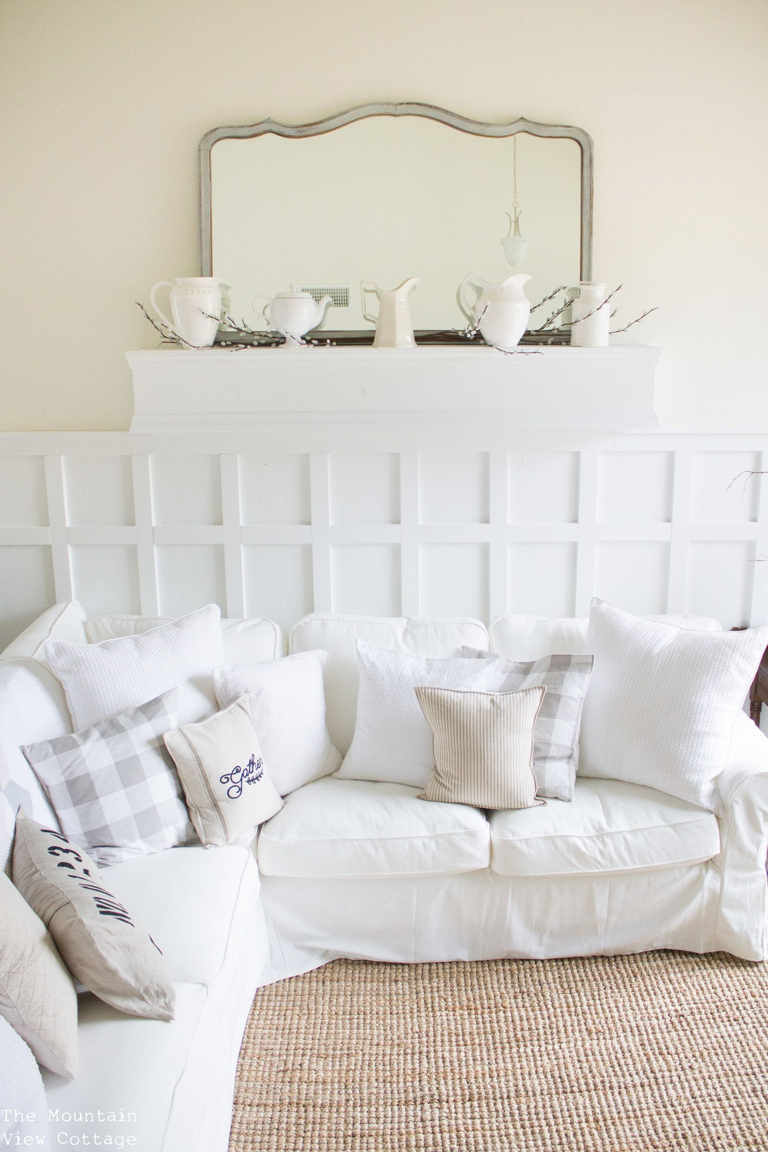 4 Beautiful White Farmhouse Inspired Paint Colors   Maroon room ...