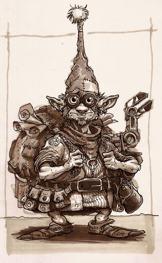 Gnome Tinker Concept Art Characters Character Art Gnomes