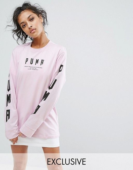 Puma Exclusive To ASOS Oversized Long Sleeve T-Shirt